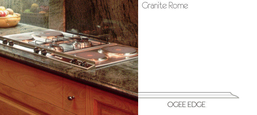 Countertop Ogee Edge Image - Rome Granite and Tile